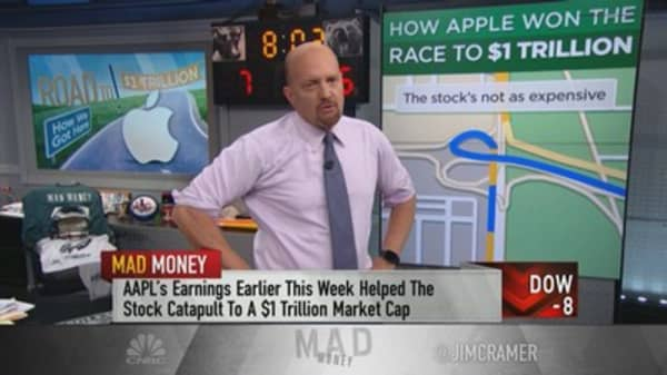 Cramer: 10 reasons why Apple hitting $1 trillion matters for the stock market