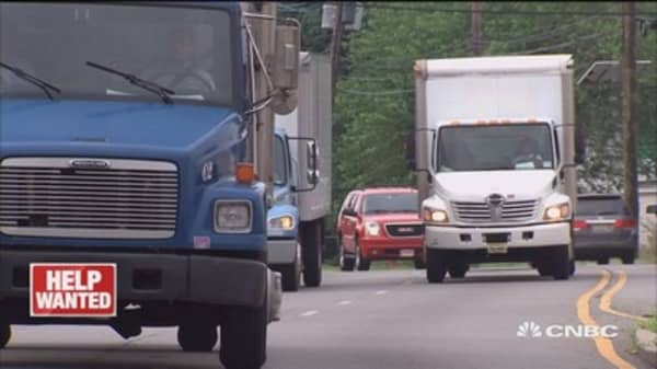 Trucking industry faces driver shortage