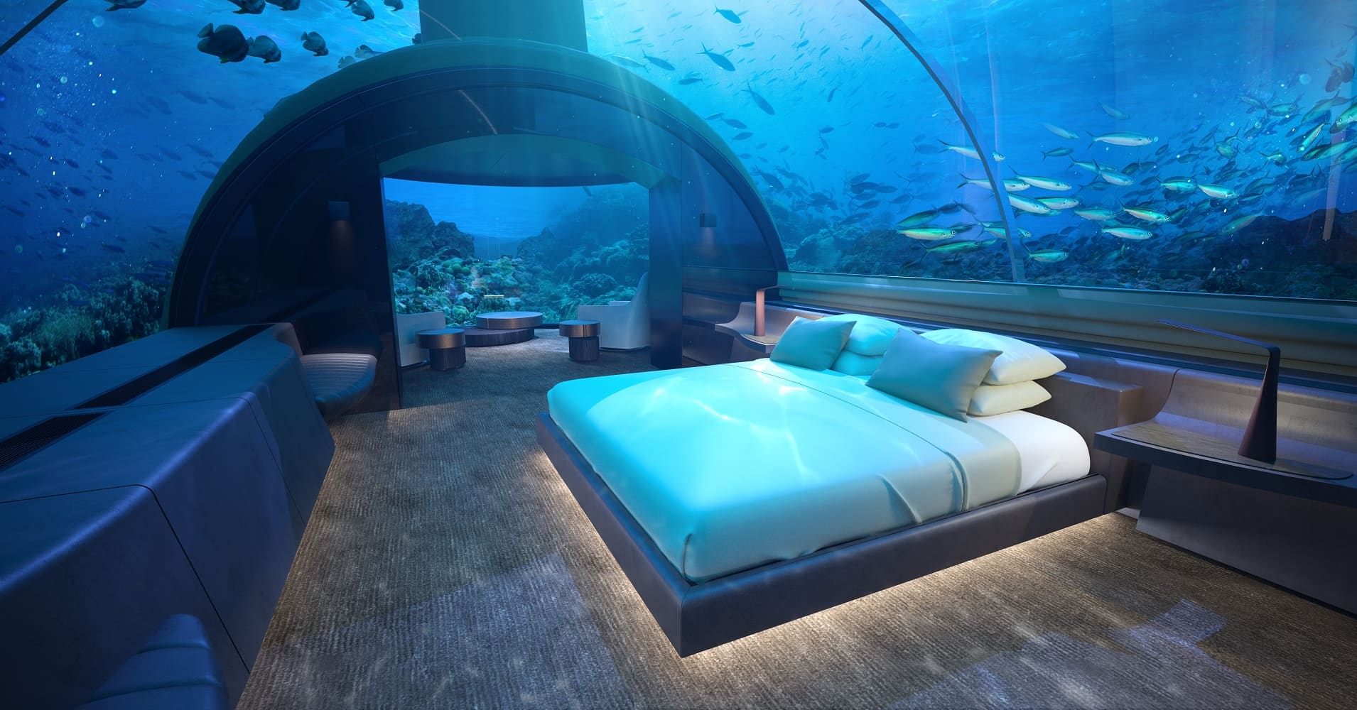 Photos World S First Glass Underwater Hotel Suite At