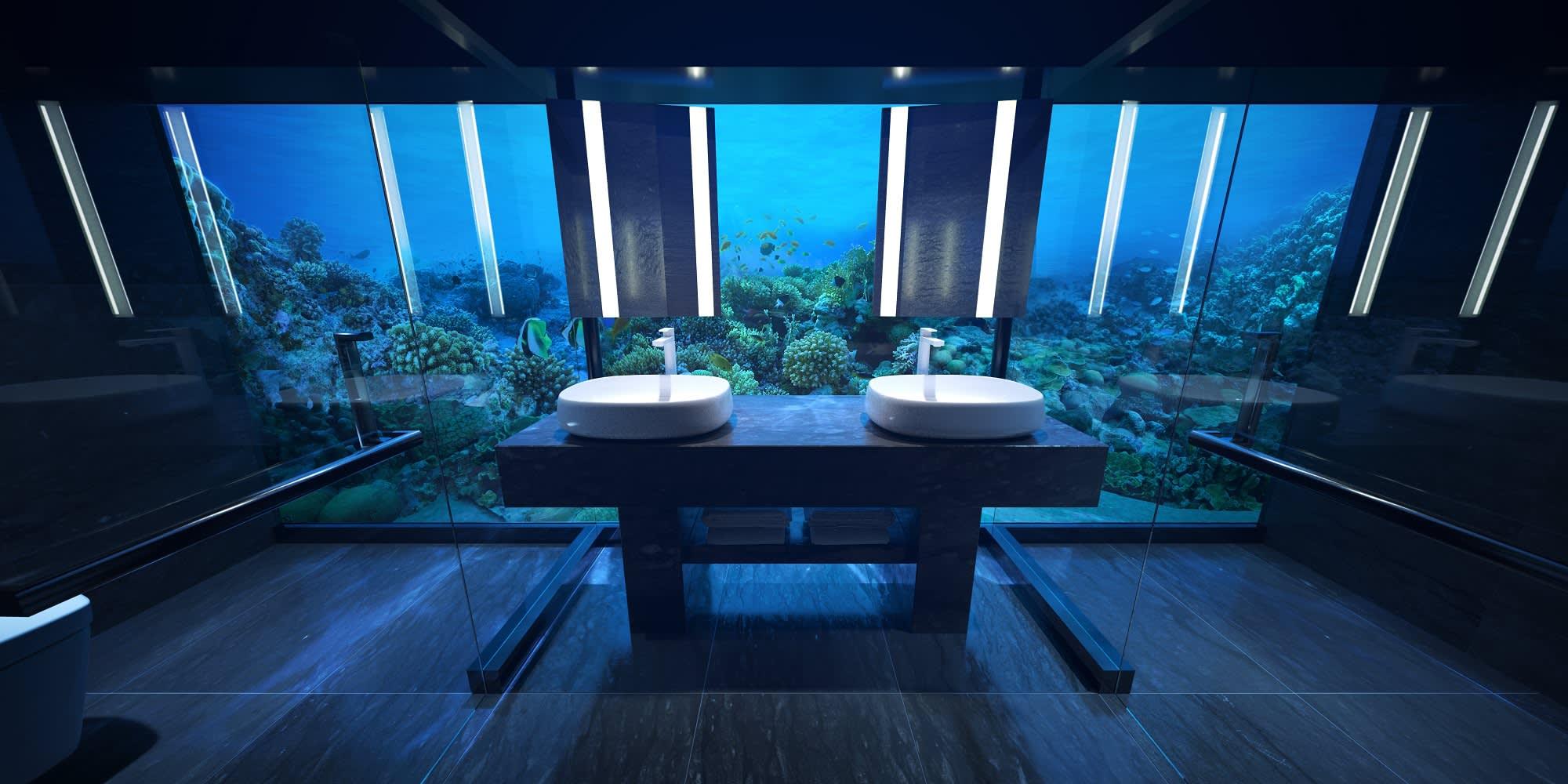 Photos Worldu0027s first glass underwater hotel