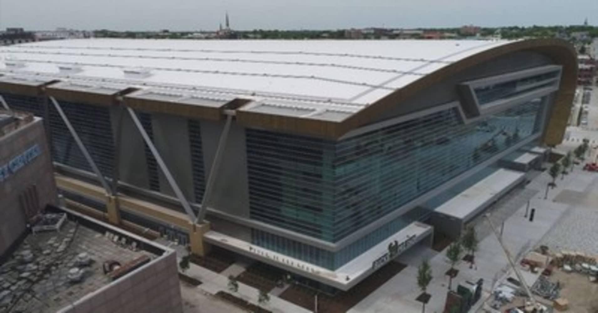 Fiserv Forum the new home of the Milwaukee Bucks
