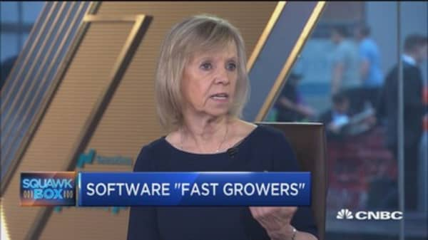 There's a huge spend on enterprise software right now, says pro