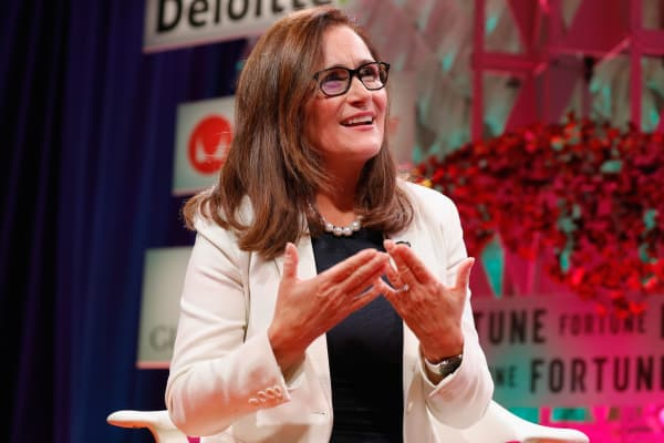 PG&E Corp CEO and President Geisha Williams speaks onstage at the Fortune Most Powerful Women Summit - Day 2 on October 10, 2017 in Washington, DC.