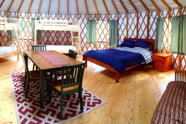 Luxurious yurt in Upstate New York.