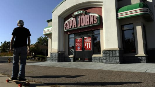 A Papa John's location in Denver