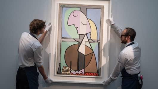 Buste de femme de profil by Pablo Picasso