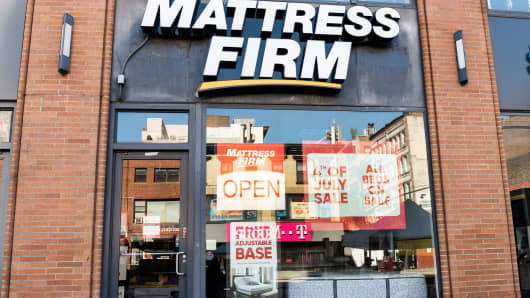 Mattress Firm store in New York City.