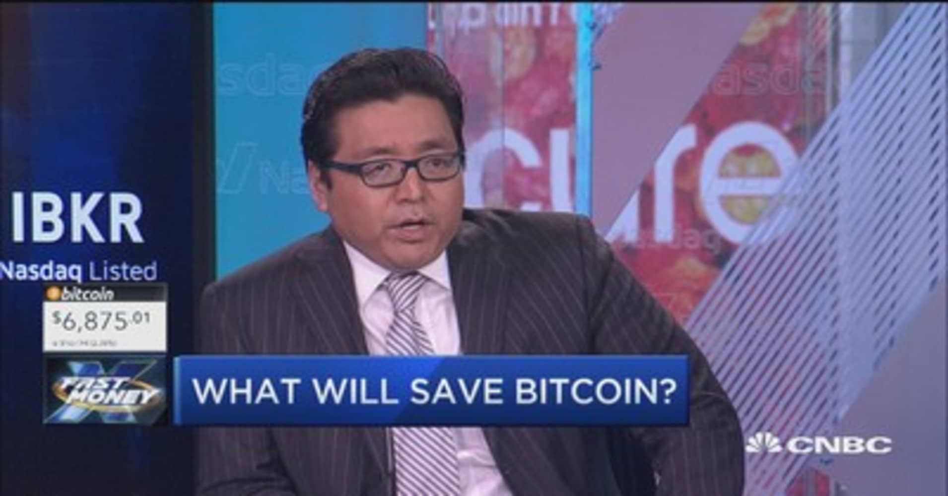 With bitcoin back below $7K, Fundstrat's Tom Lee reveals what will save the cryptocurrency