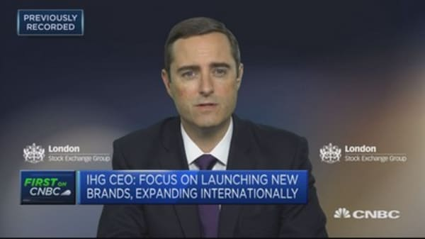 IHG has appropriate amount of leverage for economic environment: CEO