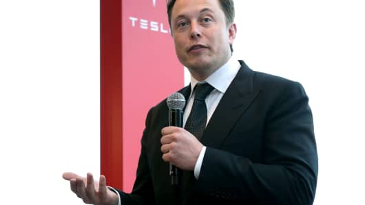 Elon Musk, co-founder and chief executive officer of Tesla