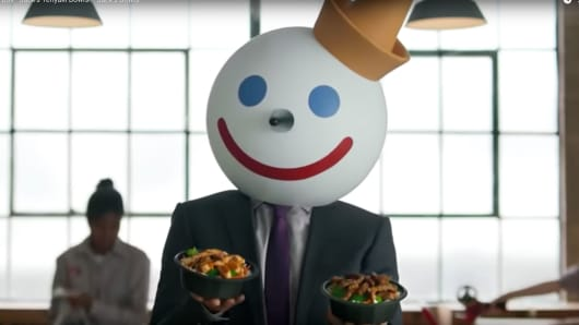 "A scene from Jack in the Box's ""Jack's Teriyaki Bowls"" commercial"