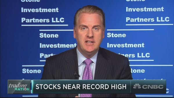 Stocks are inching closer to all-time highs, and strategist Bill Stone says don't buy just yet