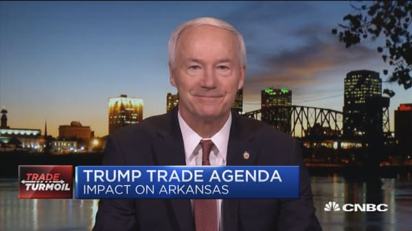 Gov. Hutchinson: Famers hope president will declare trade victory soon