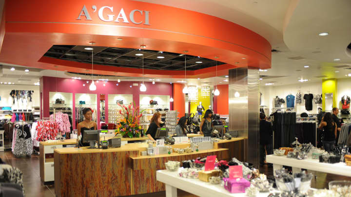 The A'GACI store opening at Sawgrass Mills Mall in Sunrise, Florida.