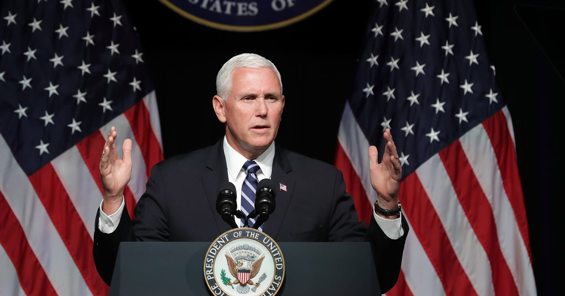 Pence unveils plan to create Space Force by 2020