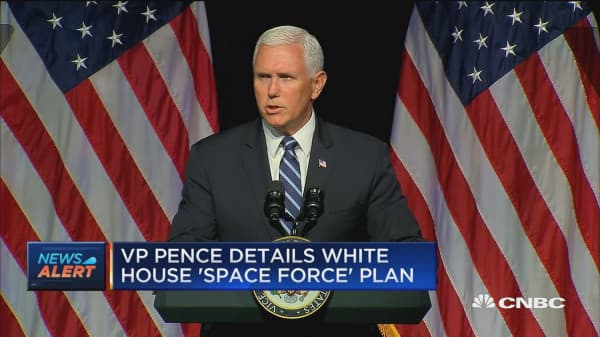 VP Mike Pence details White House's 'space force' plan