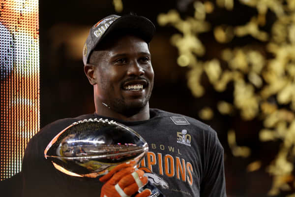 Von Miller #58 of the Denver Broncos