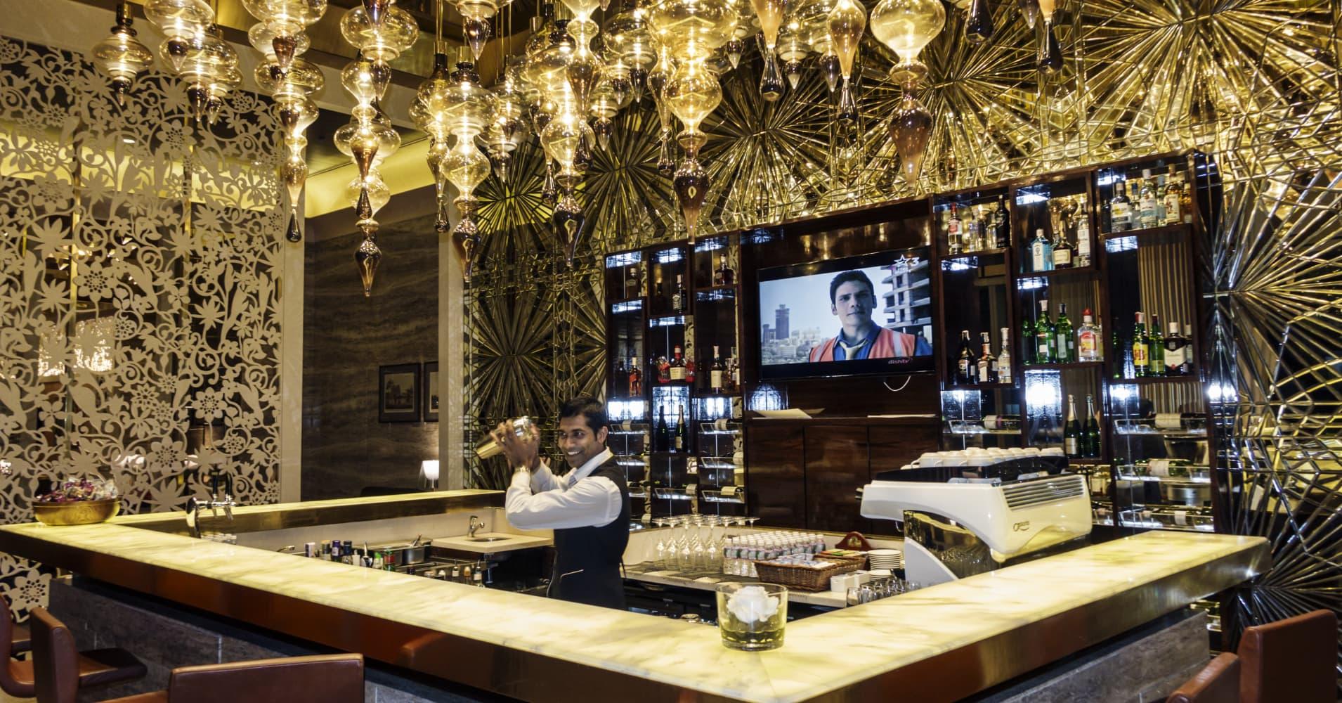 The Etihad GVK First Business Lounge at the Indian Mumbai Chhatrapati Shivaji International Airport