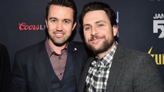 Actors Rob McElhenney and Charlie Day