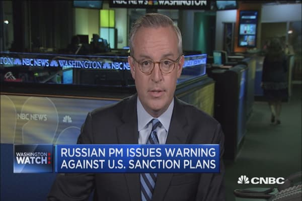 Russian prime minister issues warning against US sanction plans