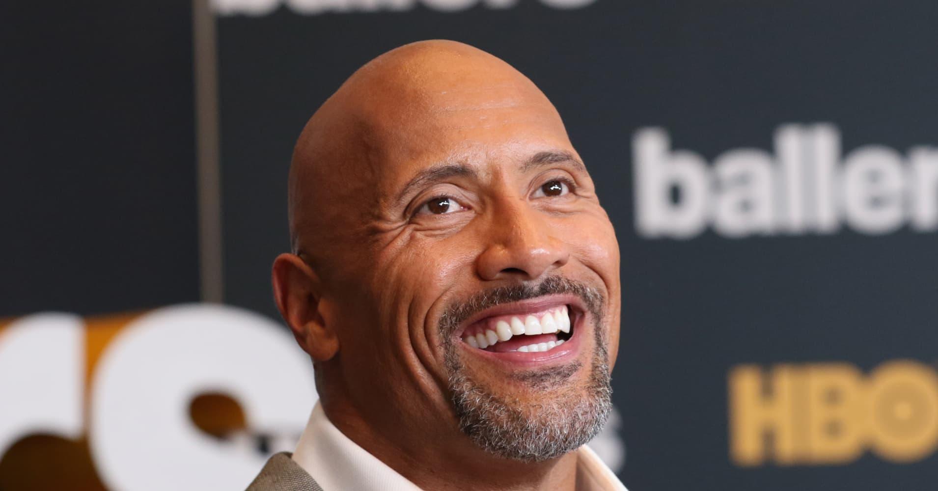 "Dwayne Johnson playsSpencer Strasmore in HBO's ""Ballers"""
