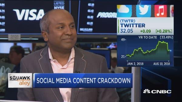 Social media content crackdown