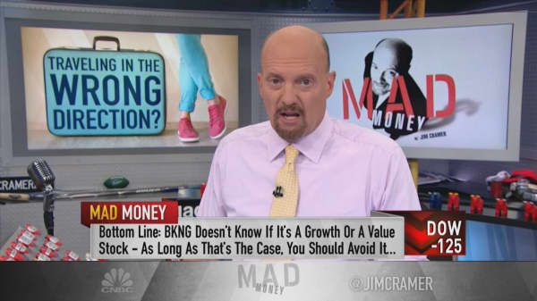 Cramer: Booking needs to decide if it's a growth or value stock