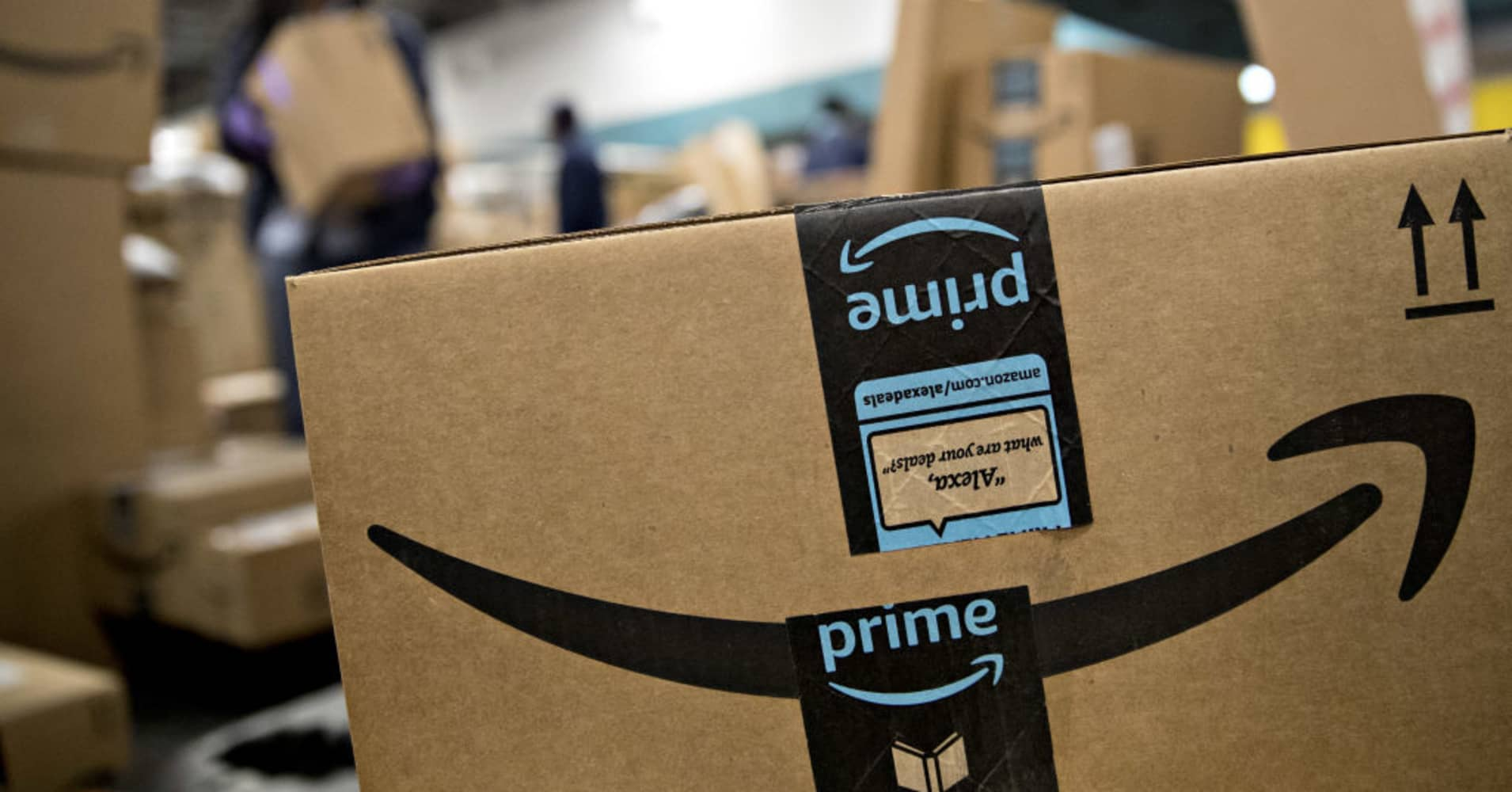 An Amazon Prime package