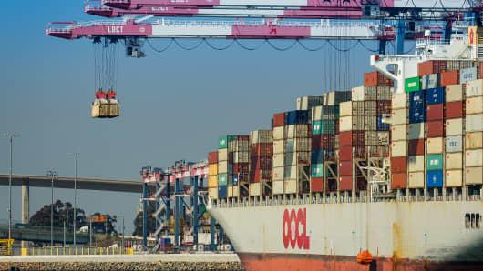Port of Long Beach in California