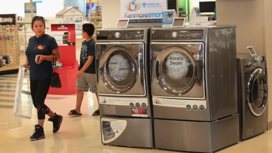 Kenmore appliances are offered for sale at a Sears retail store on July 20, 2017 in Schaumburg, Illinois.