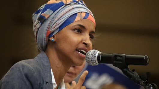 Image result for Democrat Ilhan Omar becomes one of the first Muslim women in Congress