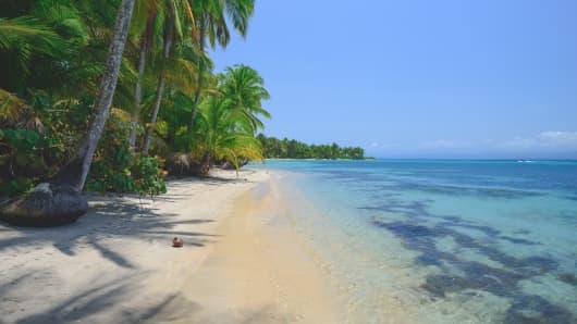 Star fish beach in Bocas Del Toro, Panama