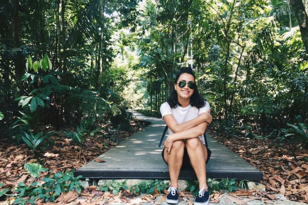 The MacRitchie Nature Trail in Singapore.