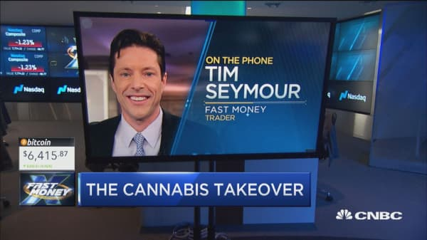'The big boys are all coming' to cannabis, Tim Seymour says