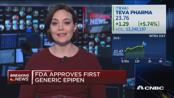 FDA approves Teva's generic EpiPen