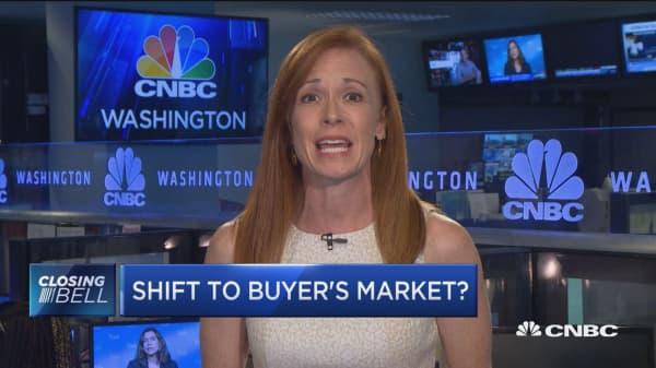 Housing market shifting to buyer's market