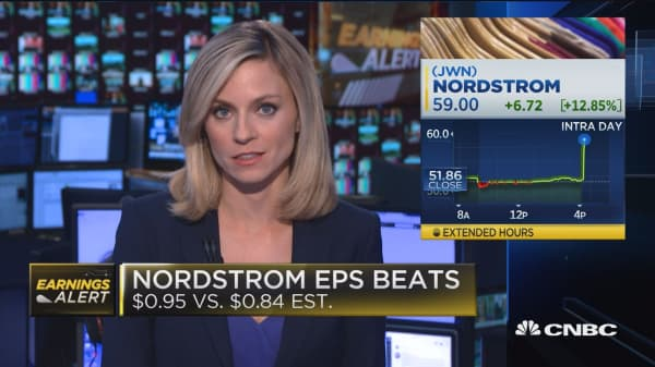 Nordstrom surges on huge comp. sales beat