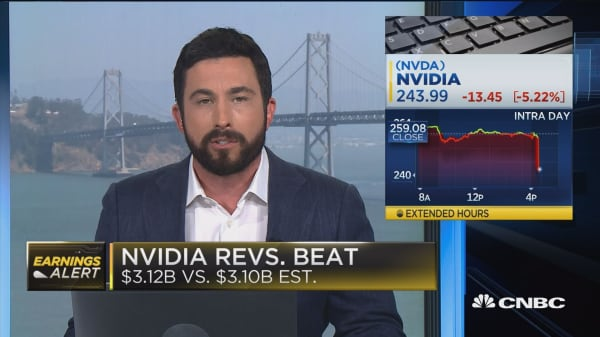 Nvidia falls more than 5% on low revenue guidance