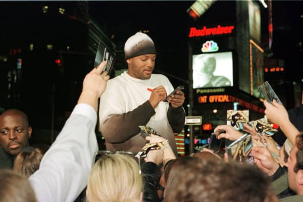 Will Smith at MTV's 'TRL' on October 31, 1999 at MTV Studios in Times Square in New York City, New York.