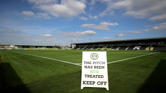 A general view of The New Lawn, home of Forest Green Rovers.