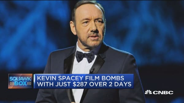 Kevin Spacey film bombs with just $287 over two days