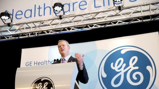 Massachusetts Governor Charlie Baker speaks during the opening ceremony for the GE Healthcare Life Sciences headquarters in Marlborough, Mass., on June 23, 2016.