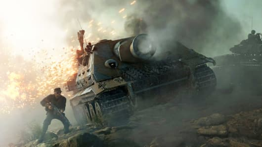 A scene from Battlefield V