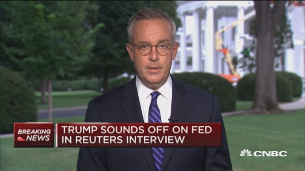 Trump: I disagree with the Fed raising interest rates