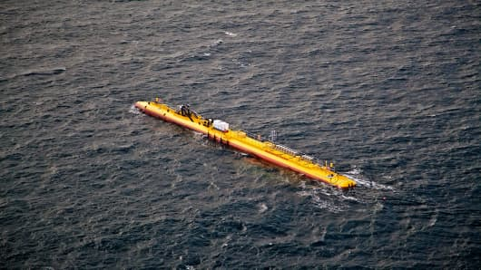 A 550-ton floating turbine smashes records in a significant step forward for tidal power