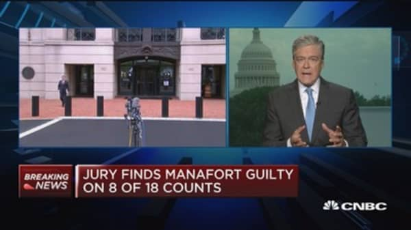 Jury finds Paul Manafort guilty on eight of 18 counts