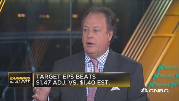 Target's earnings show patience in retail will pay off, says Moody's O'Shea.
