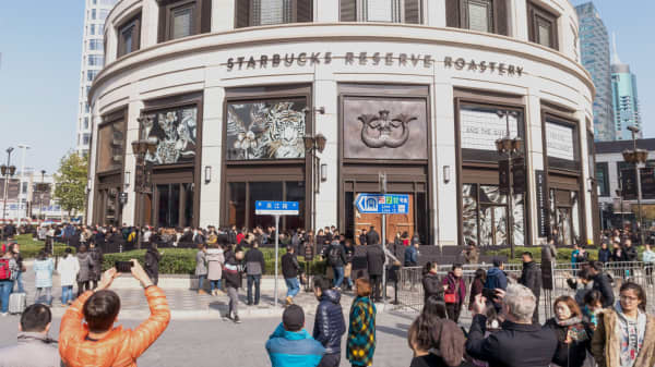 We went inside the world's largest Starbucks