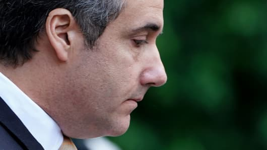 President Donald Trump's former lawyer Michael Cohen walks out of court in New York City, New York, August 21, 2018.