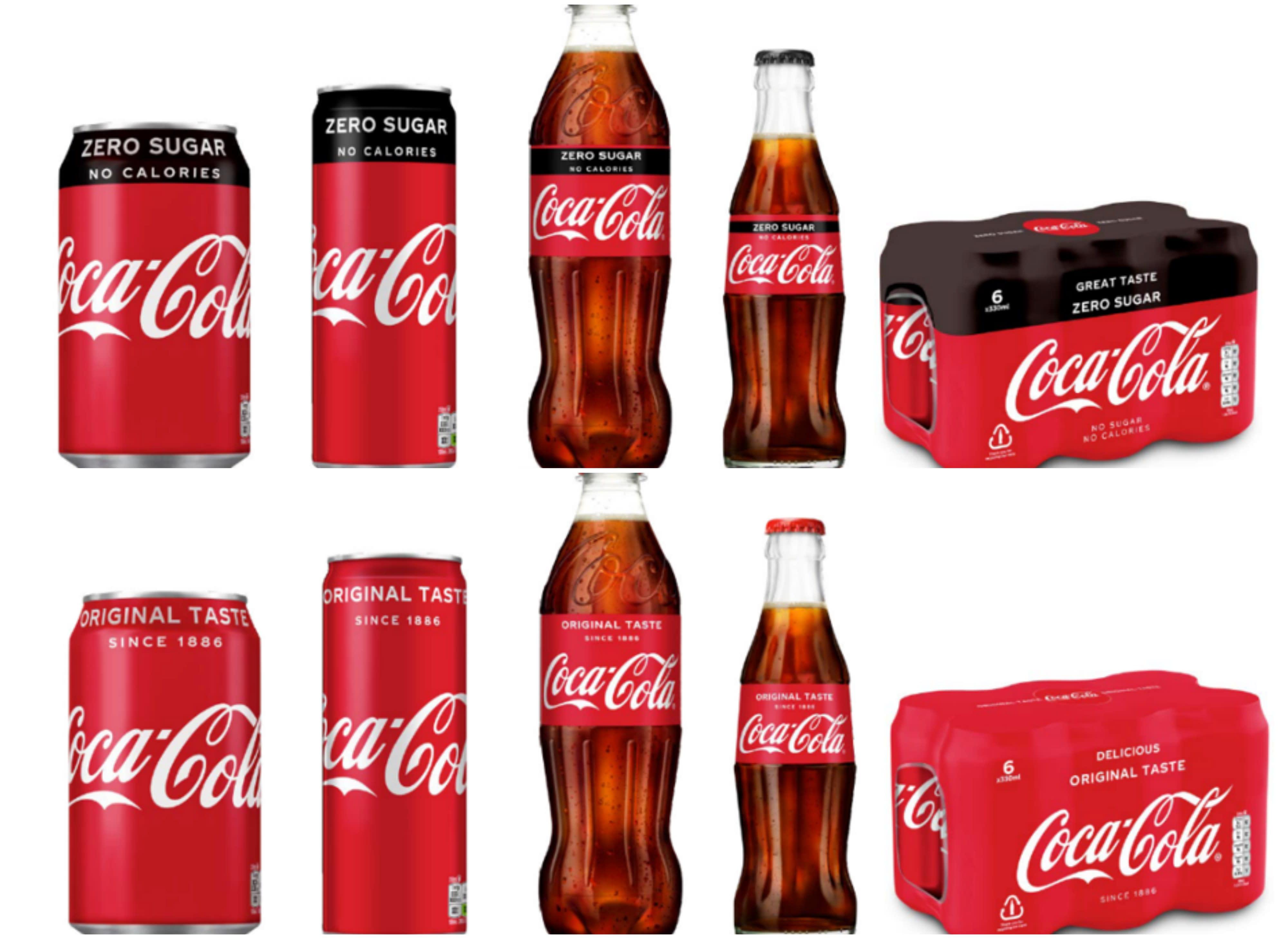 coca cola uk redesigns zero packaging to look like the original coke